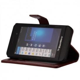 Púzdro na BlackBerry Z10 Crazy Horse Tmavé