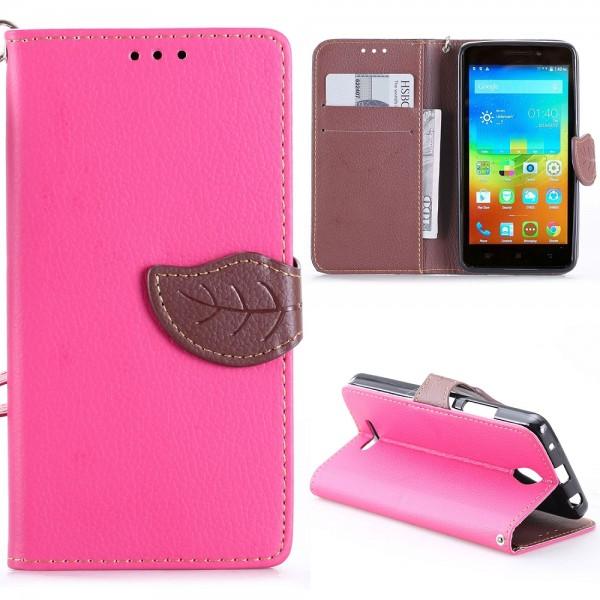 Lenovo A5000 Ružové Knižkové Púzdro s Prackou 971873c675b