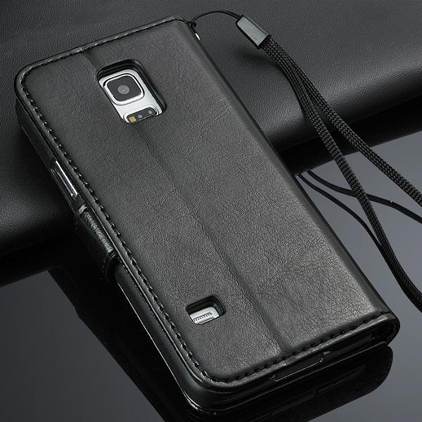 Samsung Galaxy S5 Mini Púzdro CRAZY HORSE Čierne c457db1dfa1